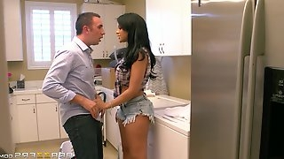 Pretty Latina Porn Star Enjoying A Hardcore Doggy Style Fuck In Her Kitchen