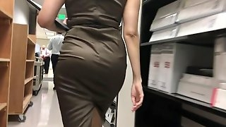 Delicious candid latina coworker 2 satin dress