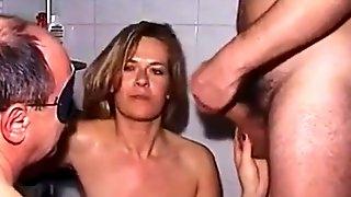 Hardcore Heiber reifer Gangbang